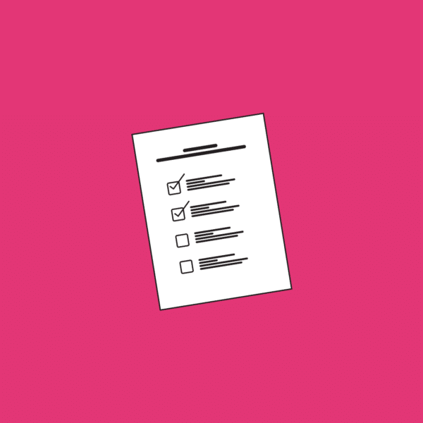 checklist for getting in touch